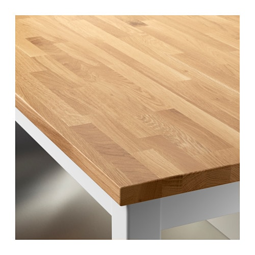 STENSTORP Kitchen island Whiteoak 126×79 cm  IKEA