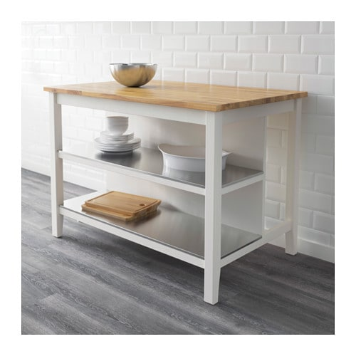 STENSTORP Kitchen Island White/oak 126x79 Cm
