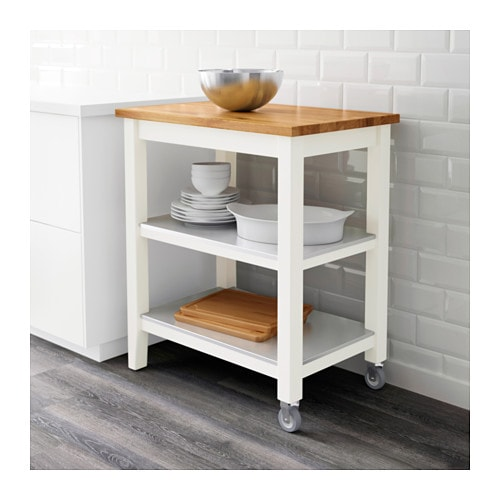 Ikea Kitchen Cart: STENSTORP Kitchen Trolley White/oak 79x51x90 Cm