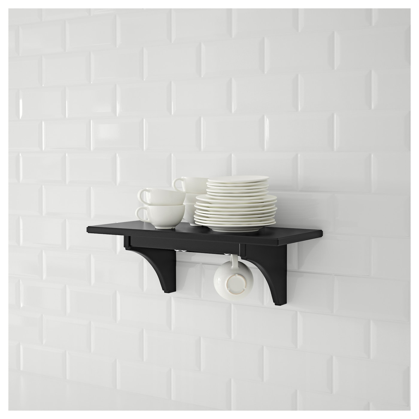 Stenstorp wall shelf black brown 60 cm ikea for Ikea stenstorp ka cheninsel