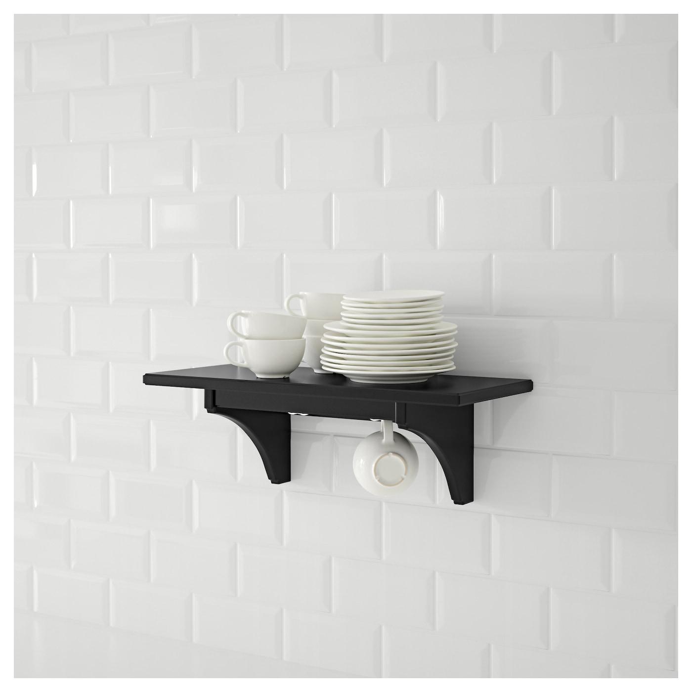 Kitchen Shelf Ikea: STENSTORP Wall Shelf Black-brown 60 Cm