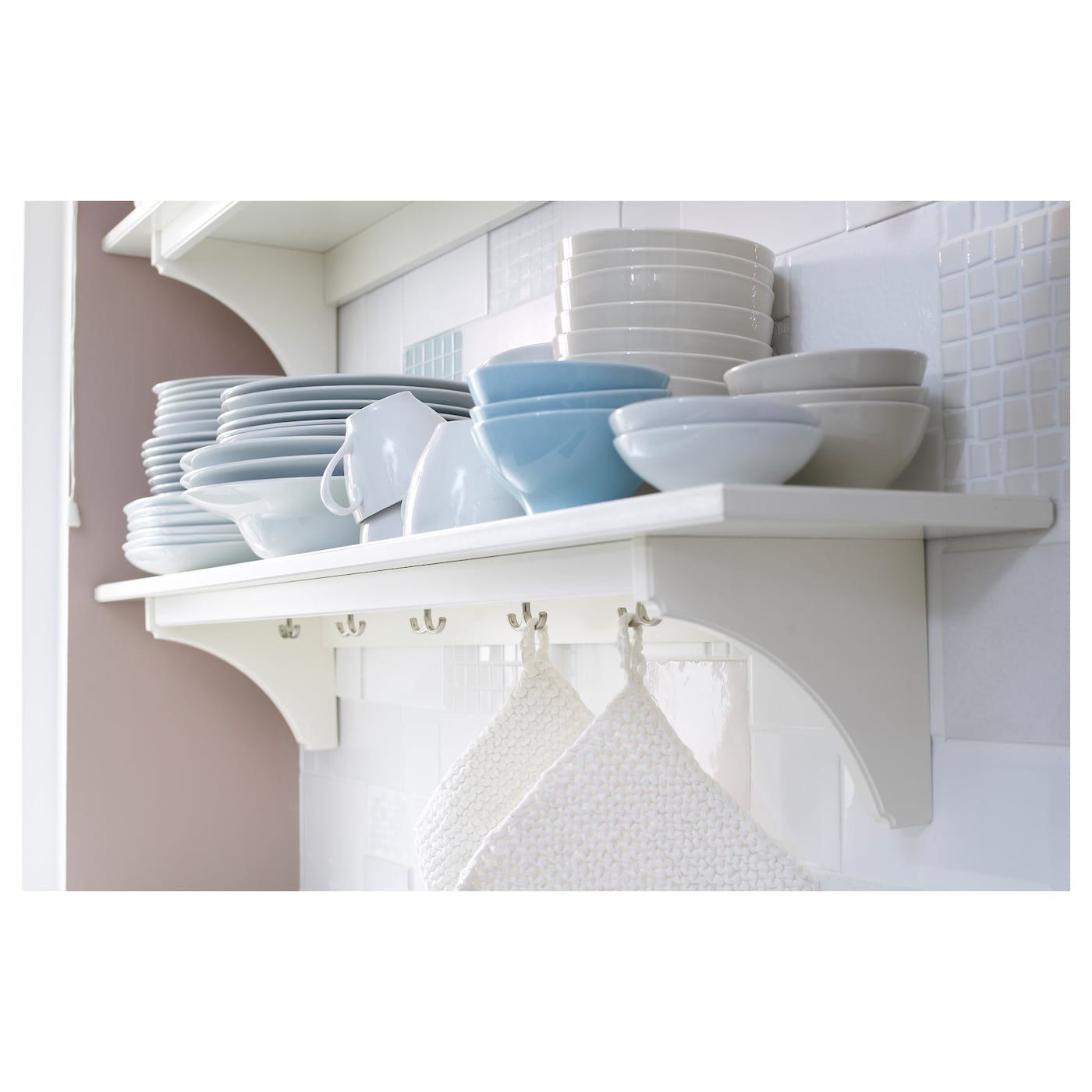 White Kitchen Shelf: STENSTORP Wall Shelf White 120 Cm