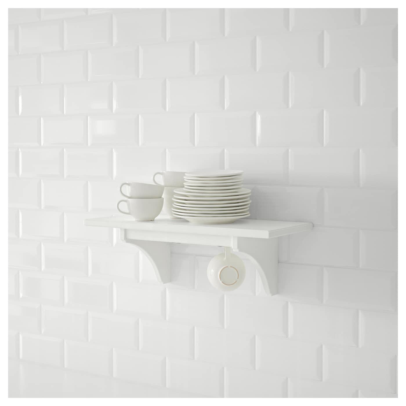 stenstorp wall shelf white 60 cm ikea. Black Bedroom Furniture Sets. Home Design Ideas