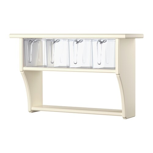 STENSTORP Wall shelf with drawers IKEA The contents are easy to see and reach as the 4 plastic drawers are transparent and have removable lids.