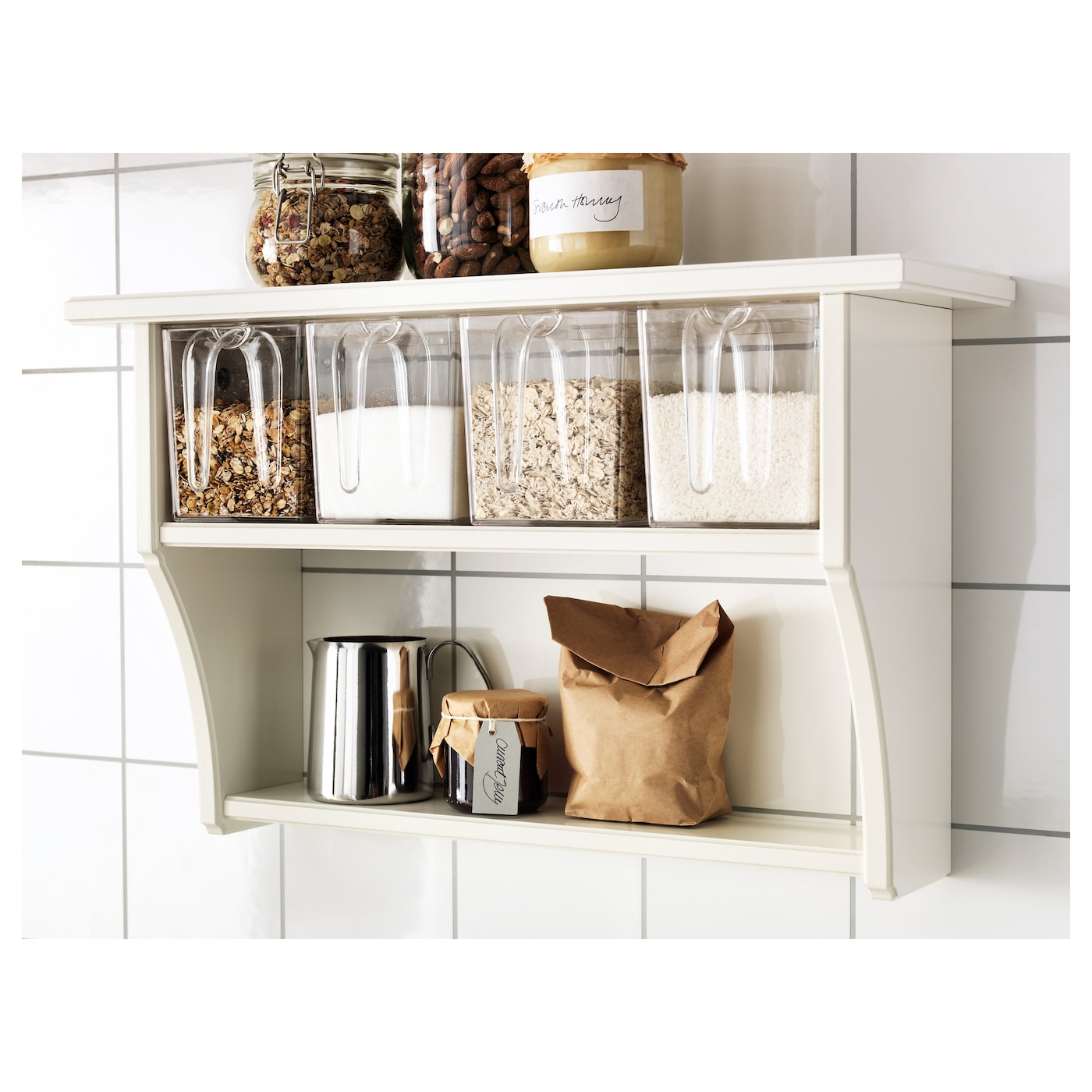 Shelves For Kitchen Wall: STENSTORP Wall Shelf With Drawers White 60x37 Cm