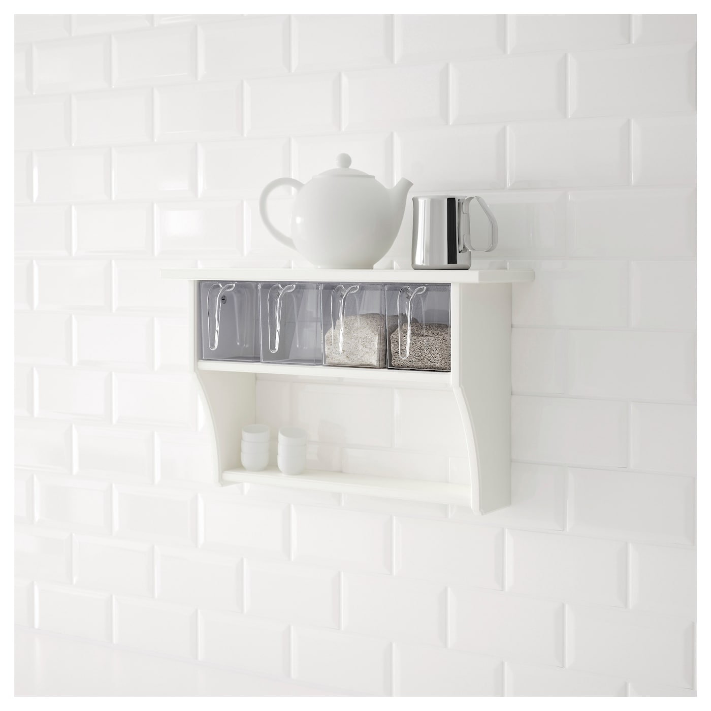 STENSTORP Wall shelf with drawers White 60x37 cm IKEA