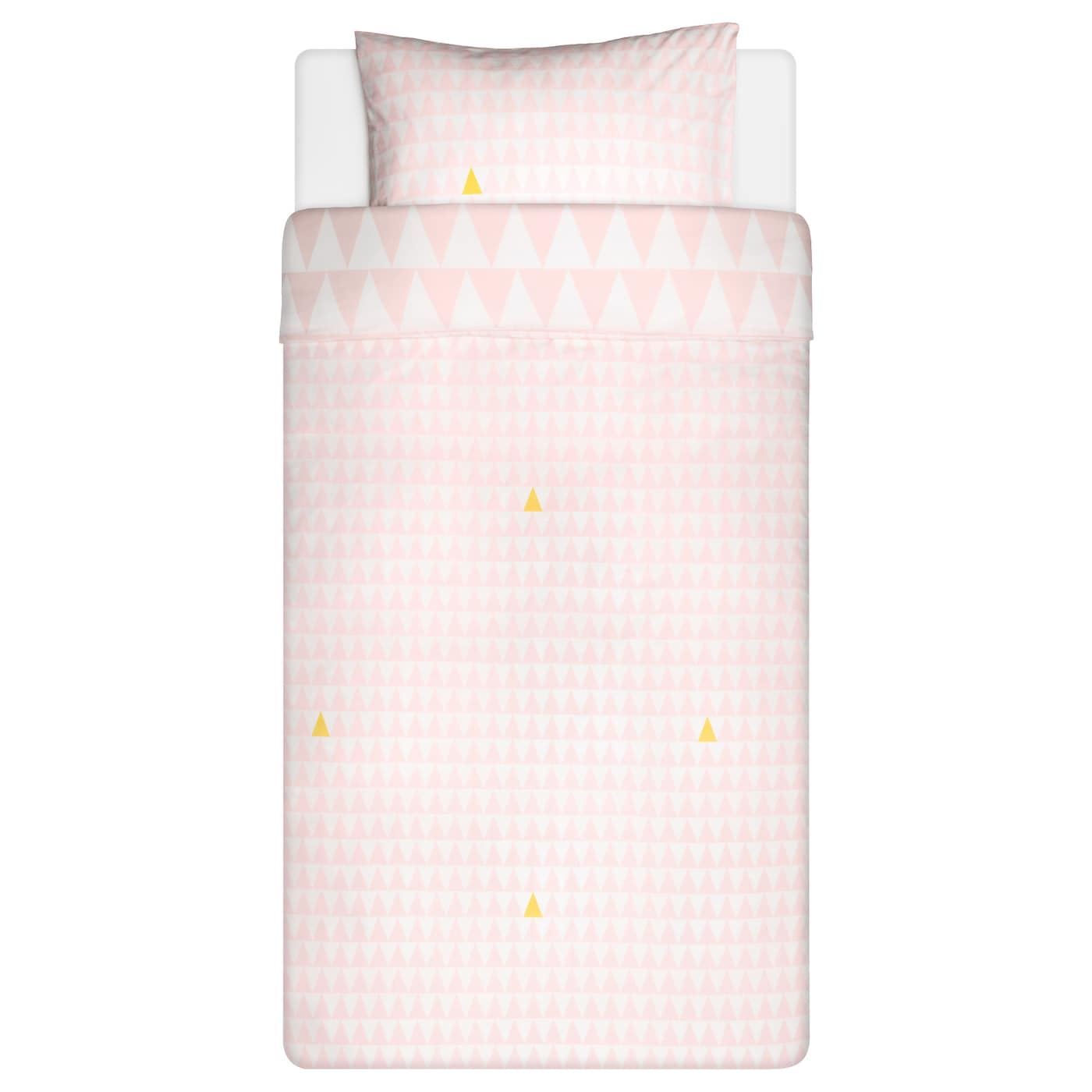 IKEA STILLSAMT quilt cover and pillowcase Cotton, soft and nice against your child's skin.