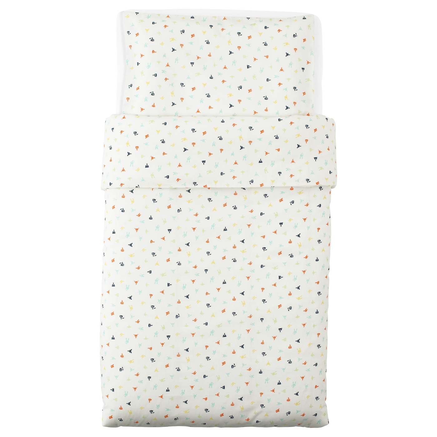 IKEA STJÄRNBILD quilt cover/pillowcase for cot Easy to keep clean; machine wash hot (60°C).