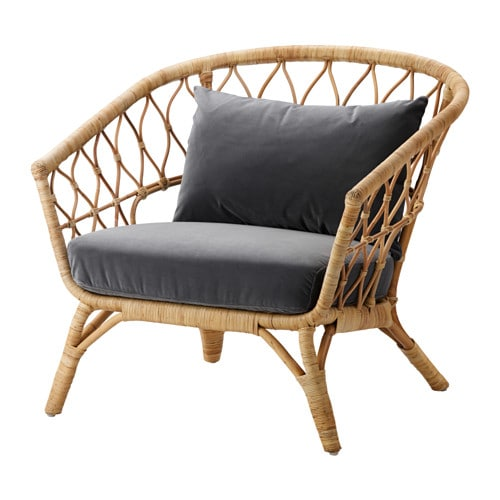 STOCKHOLM 2017 Armchair With Cushion Rattansandbacka Dark