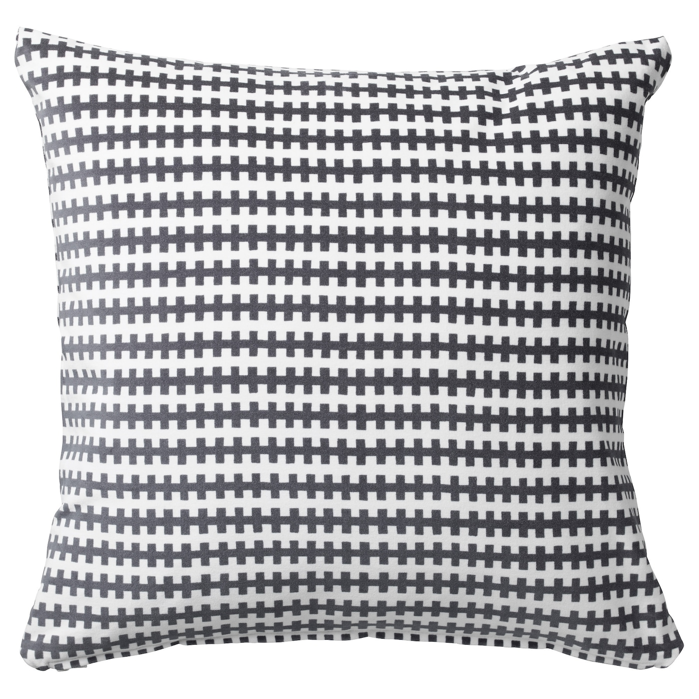 Stockholm 2017 Cushion Striped Grey White 50 X 50 Cm Ikea
