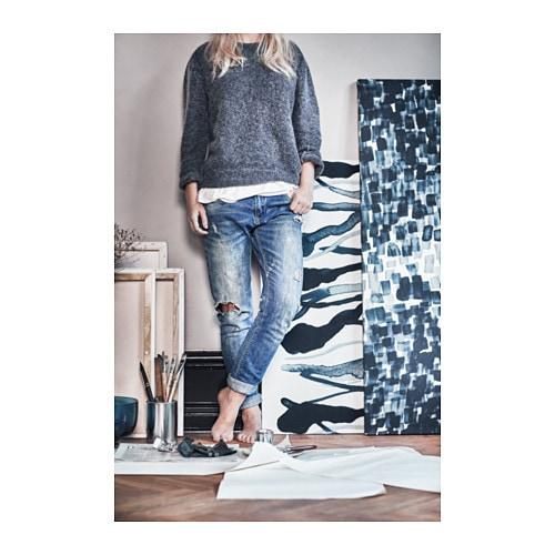 stockholm 2017 fabric check pattern blue 150 cm ikea. Black Bedroom Furniture Sets. Home Design Ideas