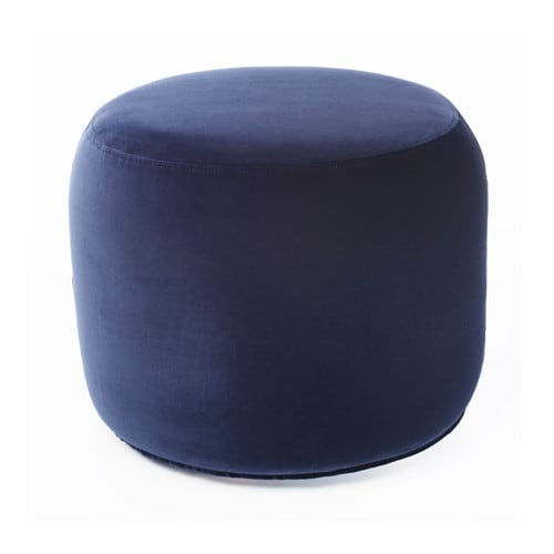 stockholm 2017 pouffe sandbacka dark blue 50x50 cm ikea. Black Bedroom Furniture Sets. Home Design Ideas