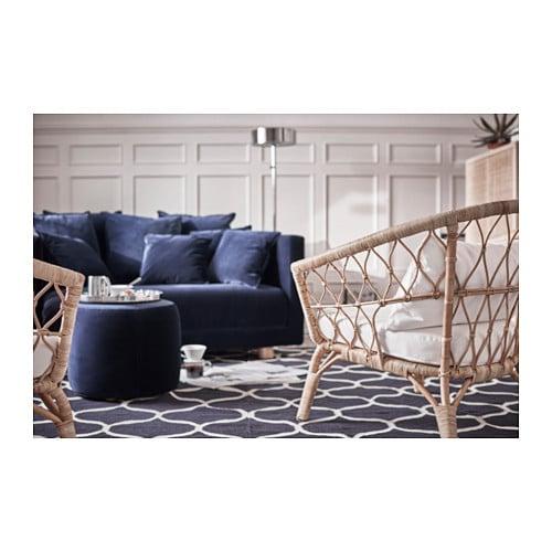 STOCKHOLM 2017 Pouffe Sandbacka dark blue 50×50 cm   IKEA