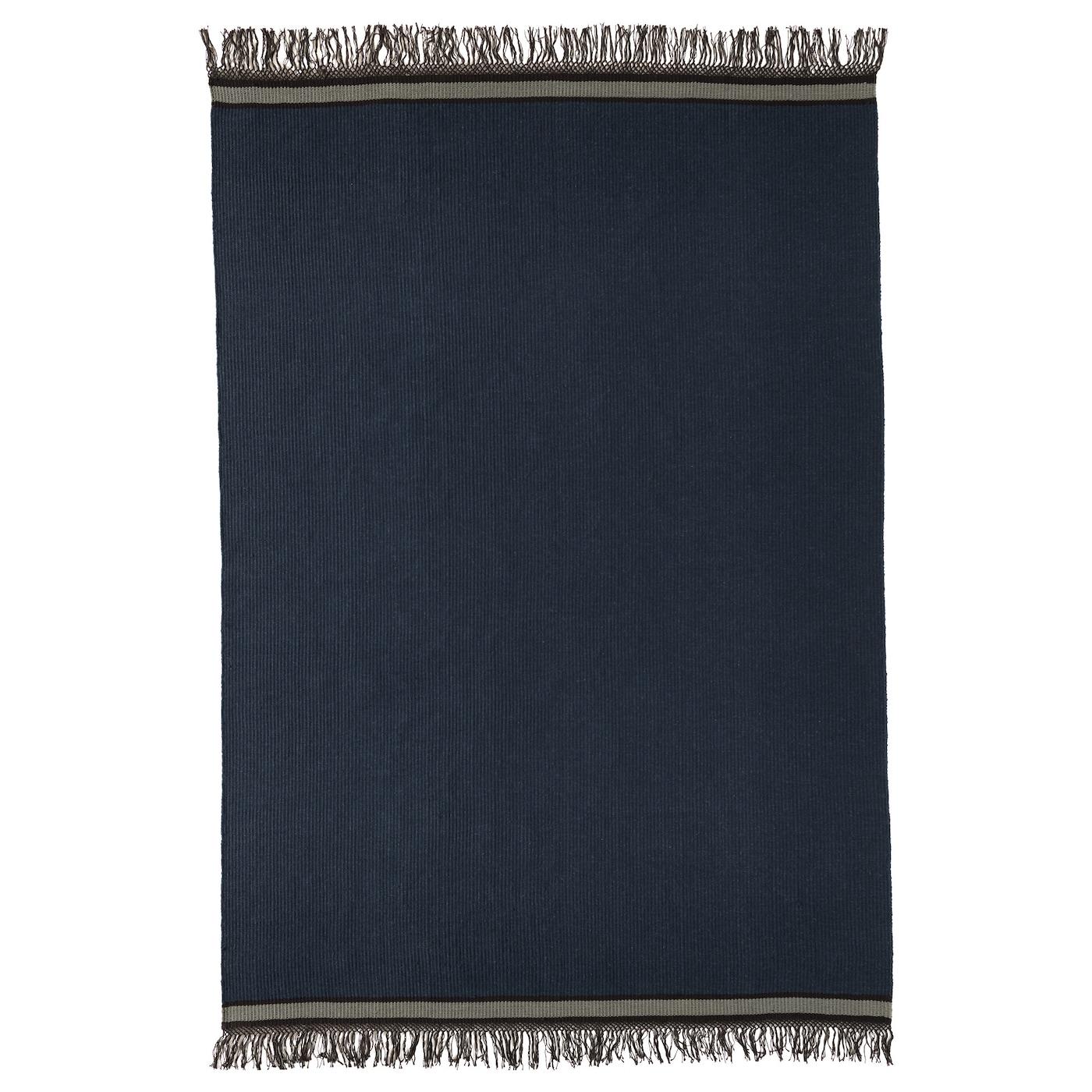 Stockholm 2017 rug flatwoven handmade blue 170x240 cm ikea - Alfombra yute ikea ...