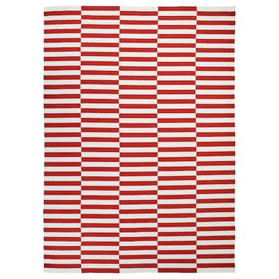 STOCKHOLM 2017 rug, flatwoven handmade/striped red 350 cm 250 cm 8.75 m²