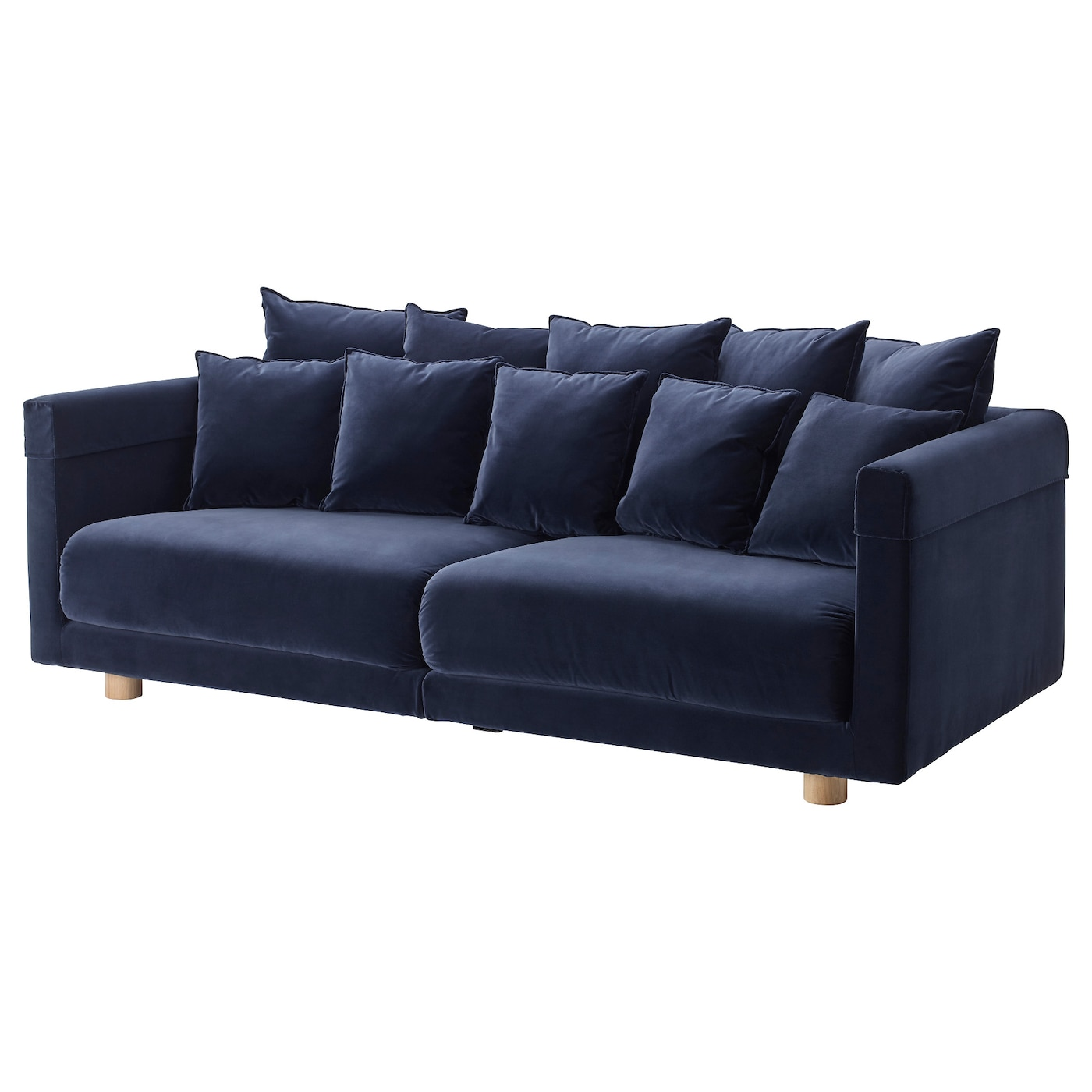 Stockholm 2017 three seat sofa sandbacka dark blue ikea for Stockholm sofa ikea
