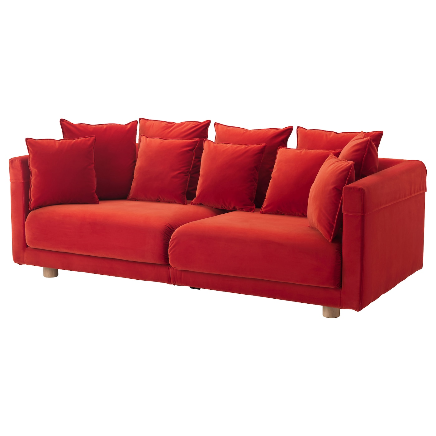 Stockholm 2017 pouffe sandbacka orange 50x50 cm ikea Red sofas and loveseats