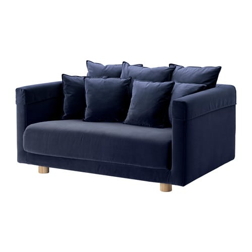 stockholm 2017 two seat sofa sandbacka dark blue ikea. Black Bedroom Furniture Sets. Home Design Ideas