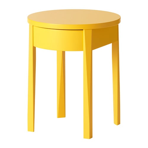 Stockholm Bedside Table Yellow 42x42 Cm Ikea
