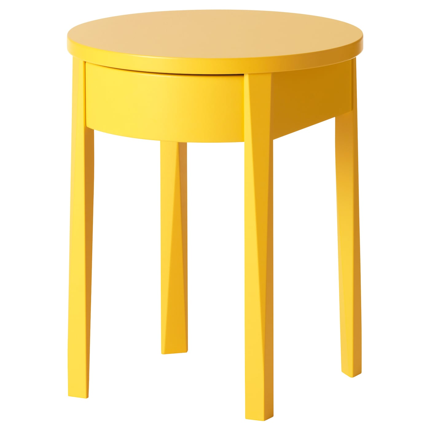 Stockholm bedside table yellow 42x42 cm ikea for Ikea green side table