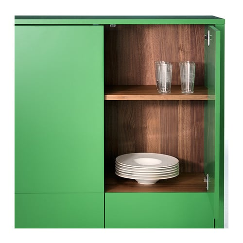 Stockholm cabinet with 2 drawers green 90x107 cm ikea - Green kitchen cabinets storage ...