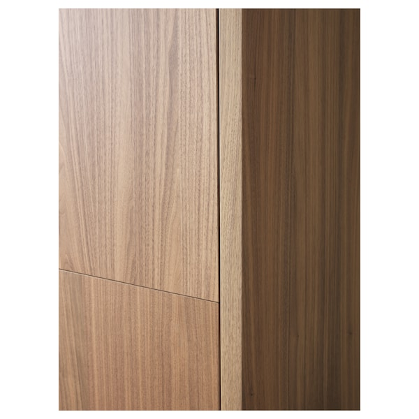 STOCKHOLM Cabinet with 2 drawers, walnut veneer, 90x107 cm