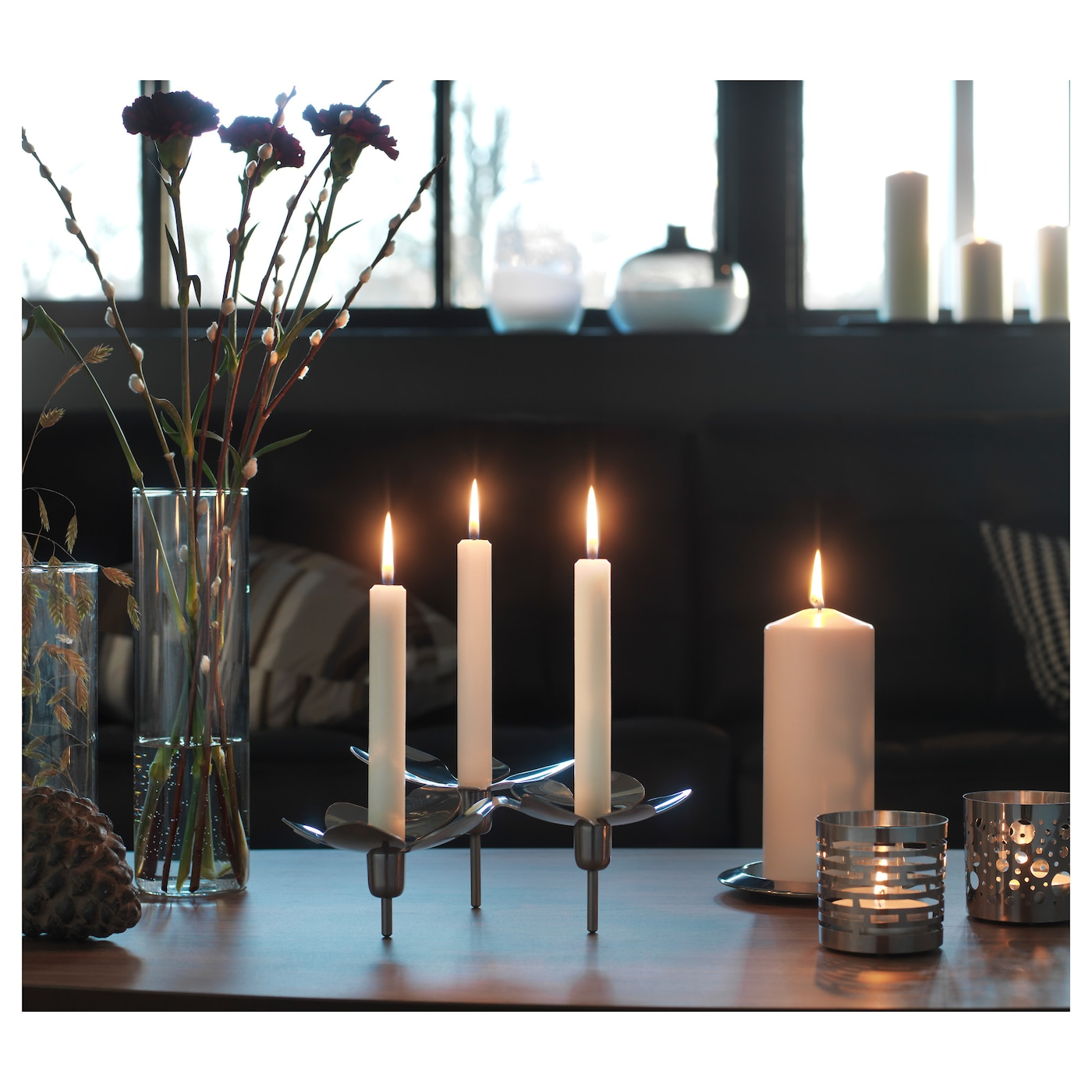 IKEA STOCKHOLM candlestick for 3 candles