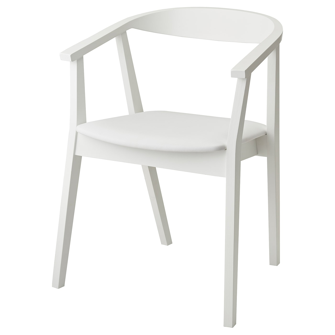 IKEA STOCKHOLM chair You sit comfortably thanks to the padded seat.