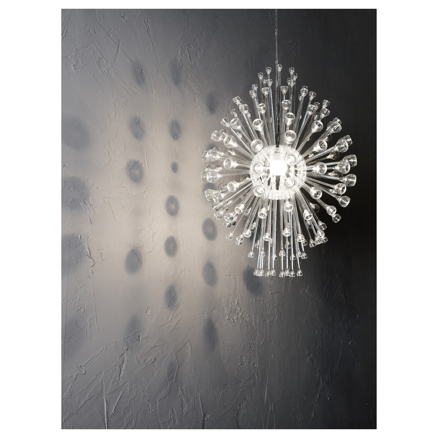 IKEA STOCKHOLM chandelier Gives decorative patterns on the ceiling and on the wall.