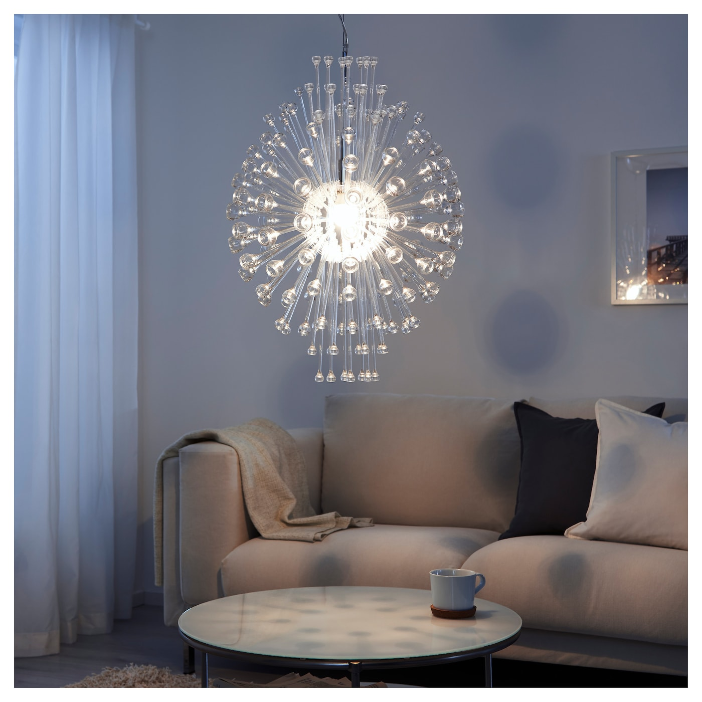 Stockholm chandelier ikea ikea stockholm chandelier gives decorative patterns on the ceiling and on the wall aloadofball Choice Image