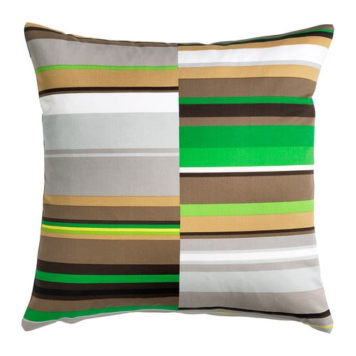 STOCKHOLM Cushion cover, striped, green