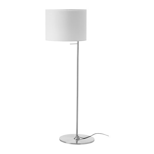 STOCKHOLM Floor lamp IKEA The textile shade provides a diffused and decorative light.