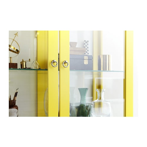 Ikea Aneboda Kommode Neupreis ~ STOCKHOLM Glass door cabinet Yellow 90×180 cm  IKEA