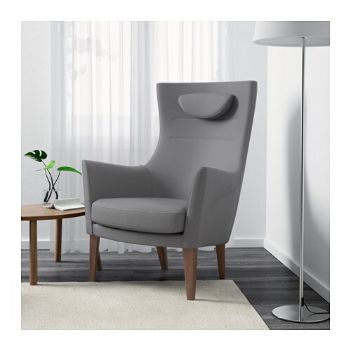 Stockholm high back armchair r st nga grey ikea for Chaise fauteuil ikea