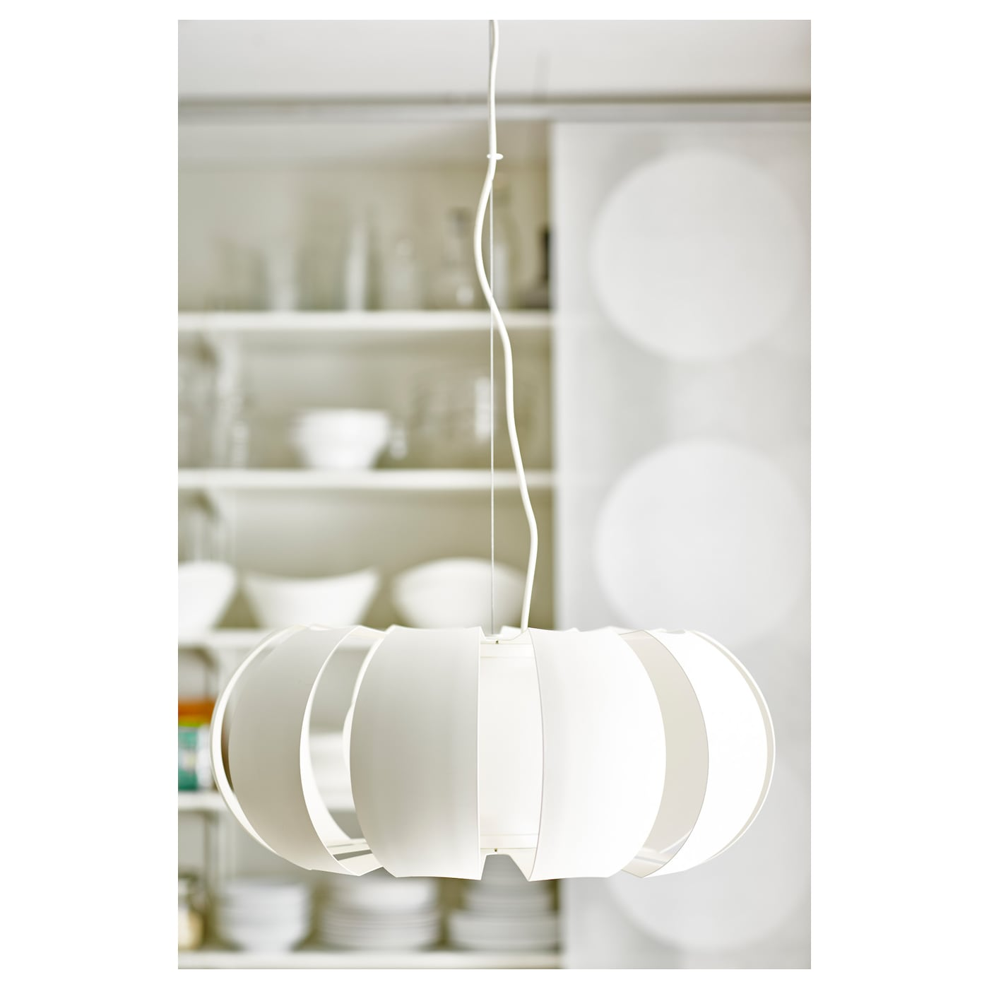 IKEA STOCKHOLM pendant lamp Provides both good general lighting and some directional light.