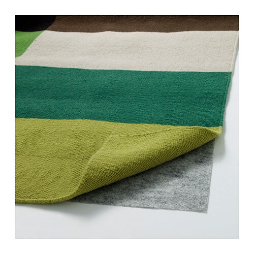 STOCKHOLM Rug, Flatwoven Handmade/chequered Green 250x350