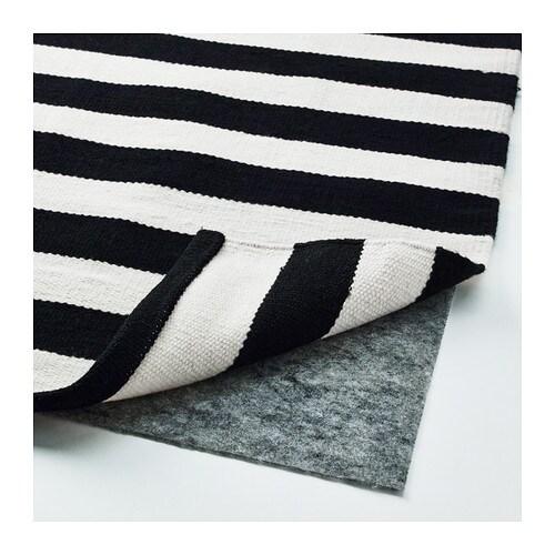 Stockholm Rug Flatwoven Handmade Striped Black Off White 250x350 Cm Ikea