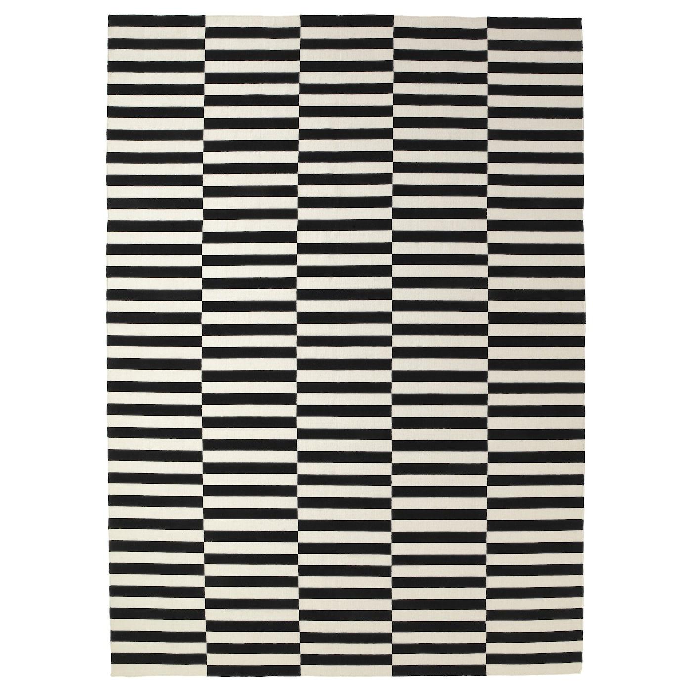 stockholm rug flatwoven handmade striped black off white 250 x 350 cm ikea. Black Bedroom Furniture Sets. Home Design Ideas
