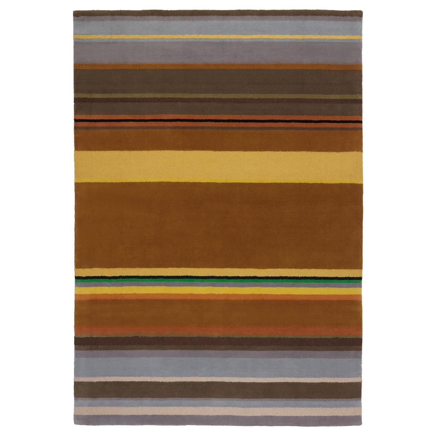 Stockholm rug low pile handmade yellow 170x240 cm ikea - Tapis en bambou ikea ...