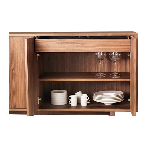 Stockholm sideboard walnut veneer 160x81 cm ikea for Sideboard ikea