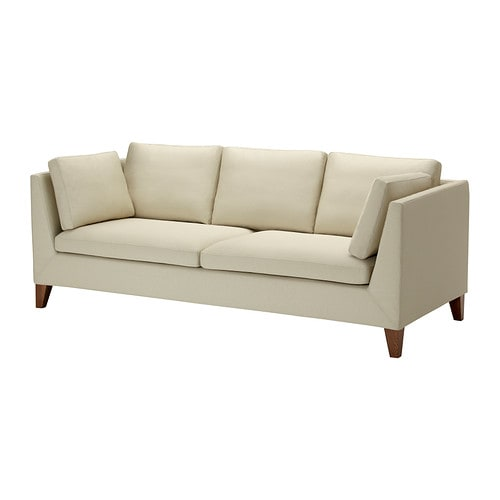 STOCKHOLM Three-seat sofa IKEA The cover is easy to keep clean as it is removable and can be machine washed.