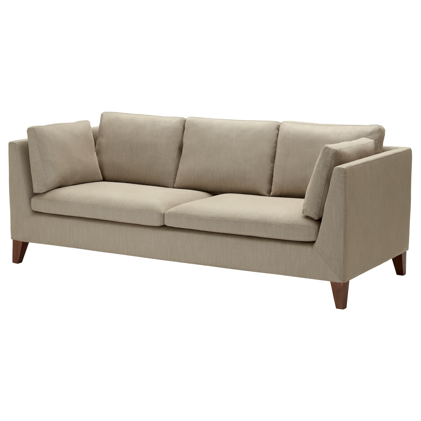 Stockholm Three Seat Sofa Gammelbo Light Brown Ikea: ikea stockholm sofa