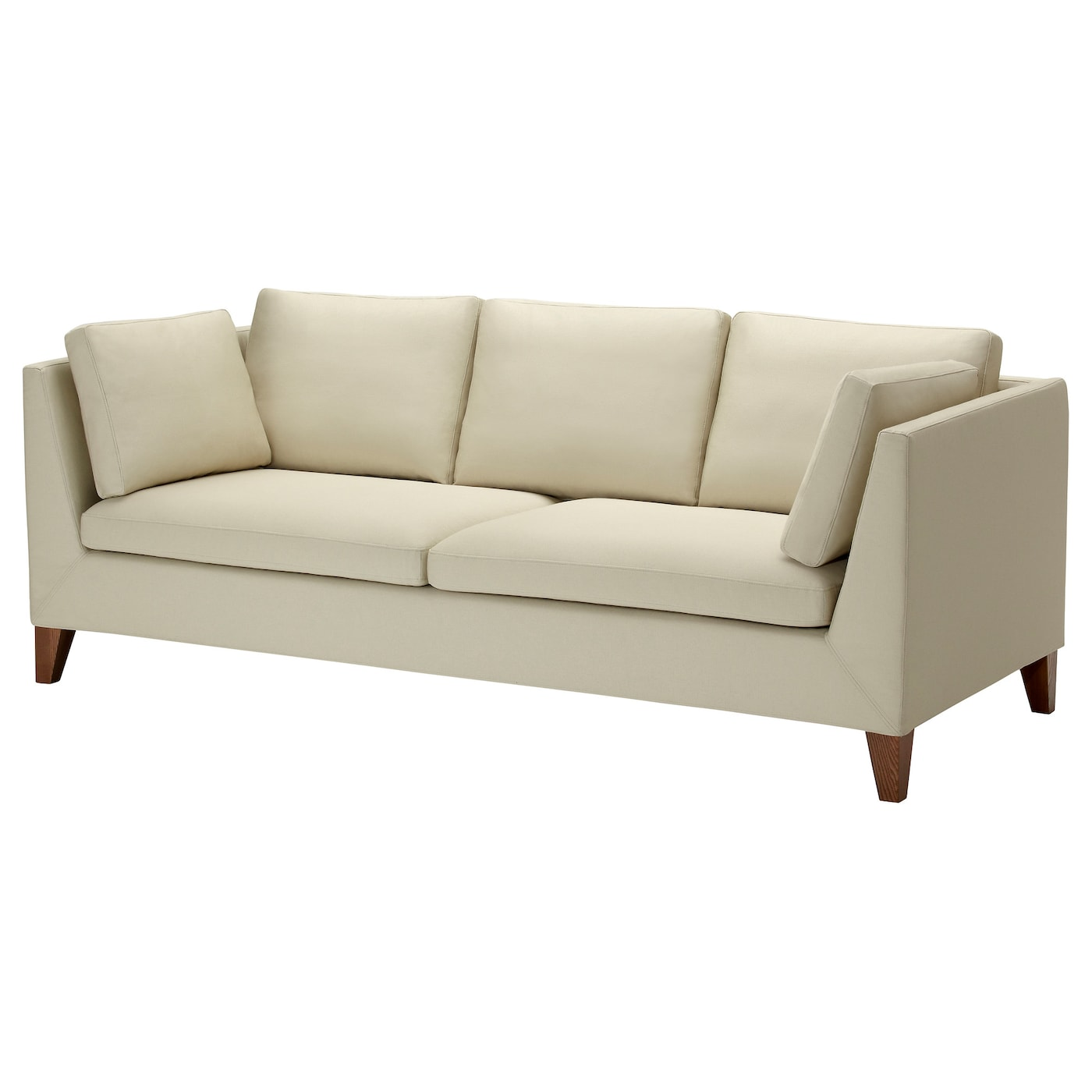 stockholm three seat sofa r st nga beige ikea. Black Bedroom Furniture Sets. Home Design Ideas