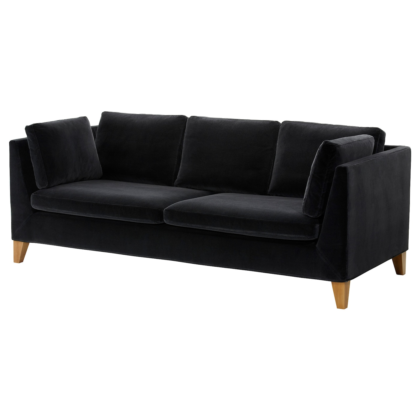 stockholm three seat sofa sandbacka black ikea. Black Bedroom Furniture Sets. Home Design Ideas