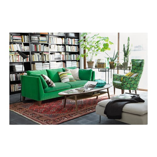 Stockholm Three Seat Sofa Sandbacka Green Ikea