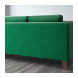 Stockholm three seat sofa sandbacka green ikea for Canape relax electrique ikea