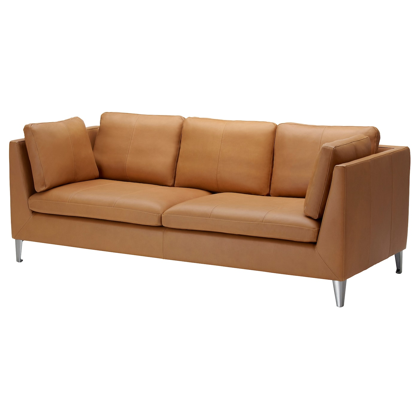 Stockholm three seat sofa seglora natural ikea for Leather furniture