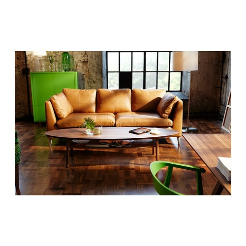 STOCKHOLM Three seat sofa Seglora natural IKEA
