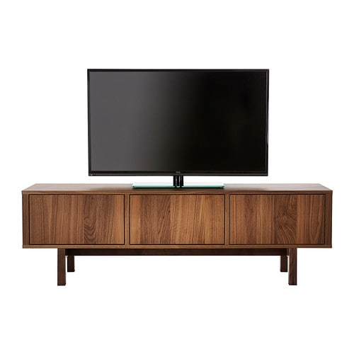 Stockholm Tv Bench Walnut Veneer 160x40 Cm Ikea