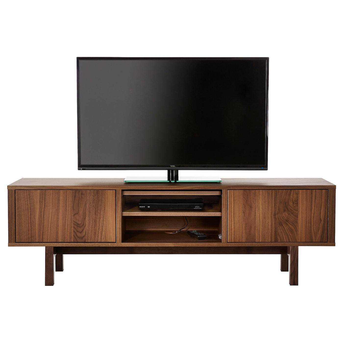 Stockholm tv bench walnut veneer 160x40 cm ikea for Ikea mobile tv